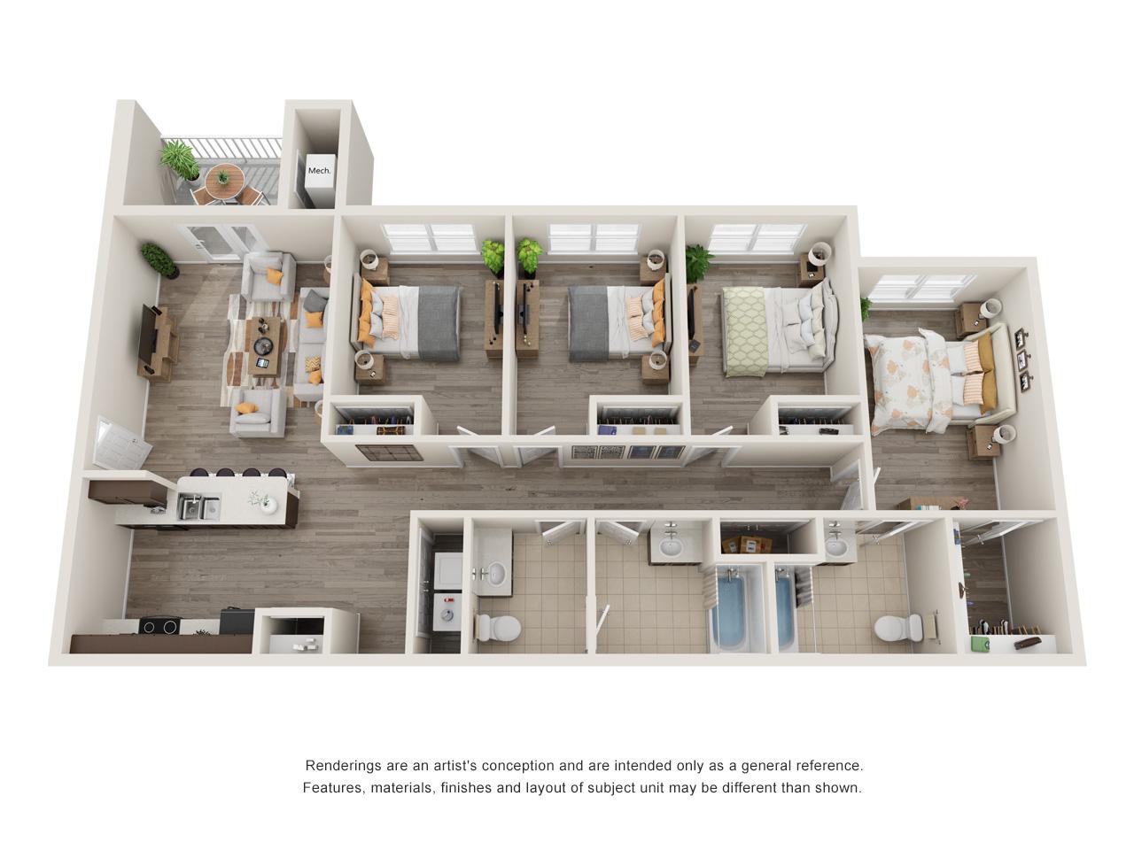Sansom Bluffs 4 Bedroom Floorplan